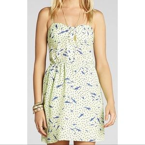 BCBGeneration Green Shark / Fish Print Mini Dress